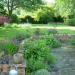 Garden design:Petworth Sussex downland garden romantic style
