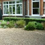 Battersea Wandsworth Common planted gravel drive seasonal change