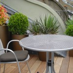 Little Venice roof patio terrace sleek and compact