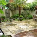 little venice tropical enclosed courtyard garden plan