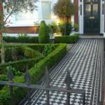 Clapham formal parterre front garden mediterranean style