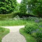 Petworth West Sussex garden naturalistic style, deciduous and evergreen landscape design