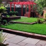 Balham family garden vibrant colours