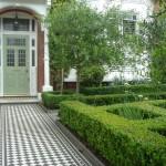 Garden ideas design: Clapham formal parterre front garden skilful maintenance