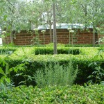 Clapham formal parterre front garden ideas greys and greens